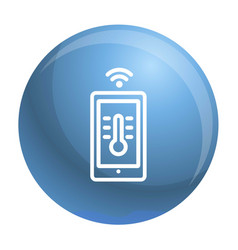 House temperature smart control icon outline vector