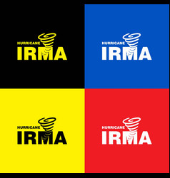 Hurricane irma banner colorful set vector