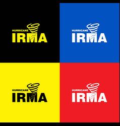 hurricane irma banner colorful set vector image