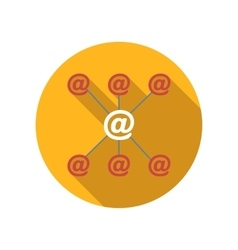 Incoming and outgoing emails flat icon vector image