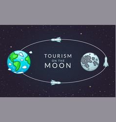 Infographics tourism on moon vector