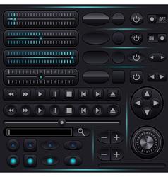 Interface elements set vector image