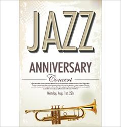 Jazz retro poster vector image