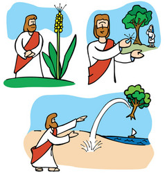 Jesus parables about the size of faith vector
