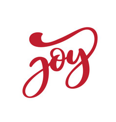 Joy phrase hand drawn lettering text ink vector