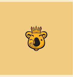 king koala mascot logo vector image