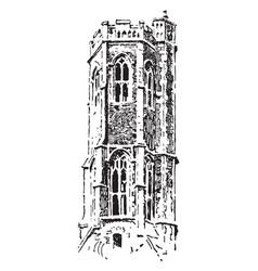 Lantern tower at grey friars kings lynn vintage vector