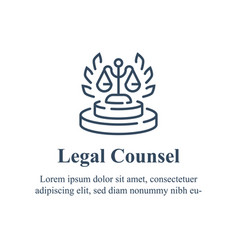 Lawyer or advocate firm law services vector