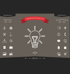 light bulb - new ideas line icon vector image