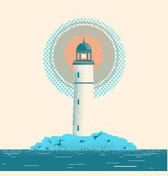 Lighthouse seascape horizon vector