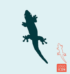 Lizard icon isolated vector