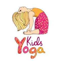 Logo for children yoga vector image