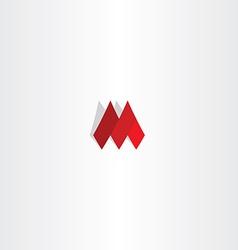logo red m letter sign vector image