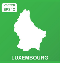 Luxembourg map icon business concept luxembourg vector
