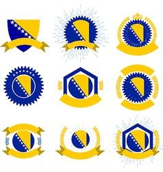 Made in Bosnia and Herzegovina logo set vector image