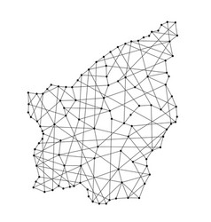 Map of san marino from polygonal black lines vector