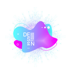 modern graphic design elements in shape fluid vector image