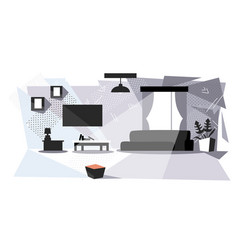 modern living room with furniture empty no people vector image