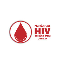 National hiv testing day concept template vector