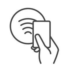 nfc contactless payments sign vector image
