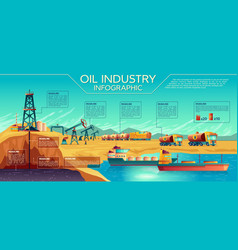 Oil industry extraction infographics vector