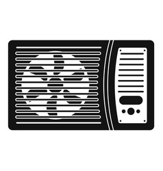 Outdoor air conditioner fan icon simple style vector