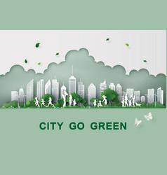 paper cut eco concept vector image