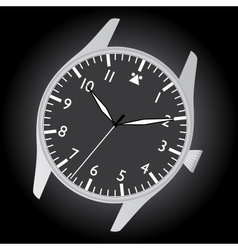 pilot watch case and dial eps10 vector image