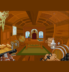 pirate cabin vector image