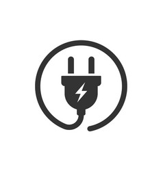 plug icon power wire cable flat icon vector image