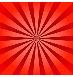 Red rays poster star burst vector image