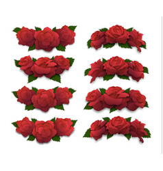 red rose half-oval crowns and diadems vector image