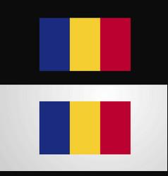 Romania flag banner design vector