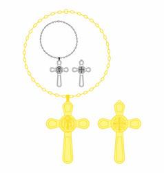 Saint benedict medal cross vector
