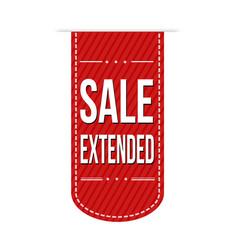 Sale extended banner design vector
