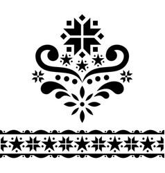 scandinavian christmas folk art design set vector image