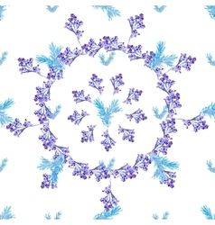 Seamless floral Blue circle pattern vector