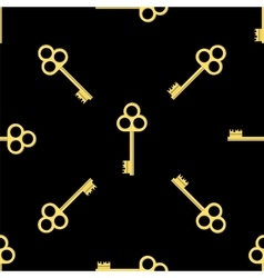 Seamless Gold Key Pattern vector