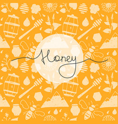 Seamless pattern honey vector