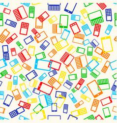 seamless pattern phone vector image