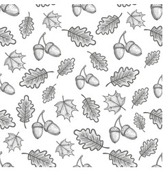 seamless pattern with acorns vector image