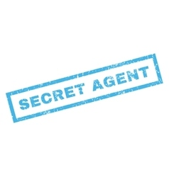 Secret Agent Rubber Stamp vector image