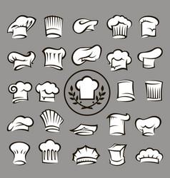 set chef hats vector image