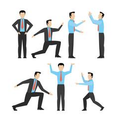 Set of businessmens cartoons vector