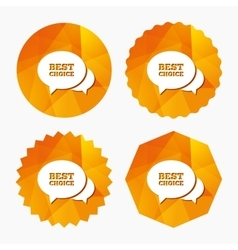Speech bubble best choice icon Special offer vector
