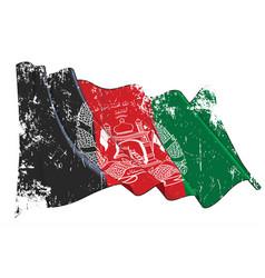 Textured grunge waving flag afghanistan vector