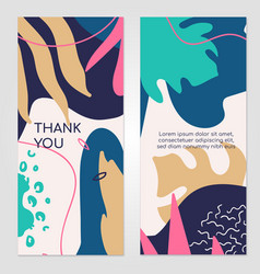 thank you abstract banner templates set vector image