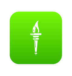 torch icon simple black style vector image