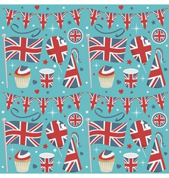 uk party pattern vector image
