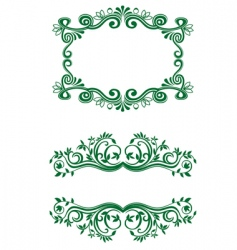 vintage floral decorations vector image